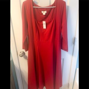 Red Anthropologie dress. NWT